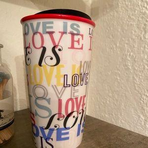 Starbucks Accessories - Starbucks Love is Love Ceramic Coffee Travel Mug